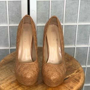 Delicacy Women's Quilted Pumps Size 8